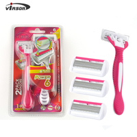 VDR2-11 Disposable shaver factory 6 blades private label oem razor