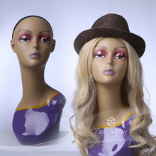 Plastic Female Mannequin Head With Shoulder Manufacturer