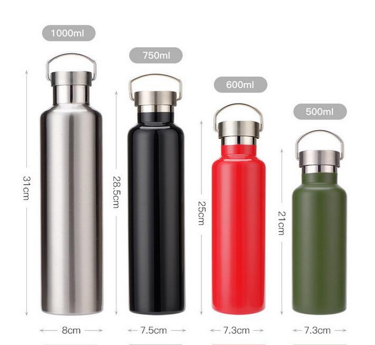 thermos water bottle with gasket bottle hot flask 750ml