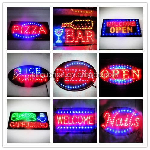 Brand New Oval/Square/Rectangle Shape moving animated led <strong>sign</strong> order link