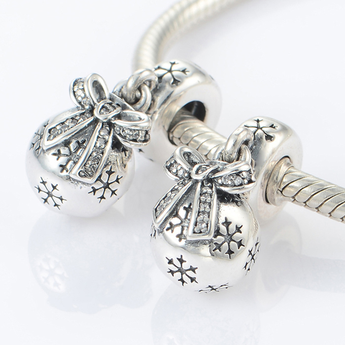 7407f4f89 Get Quotations · 2015 New Fits Pandora Charms Bracelet 925 Sterling Silver  Charms Christmas Snowflake Charm Pendant DIY Necklaces