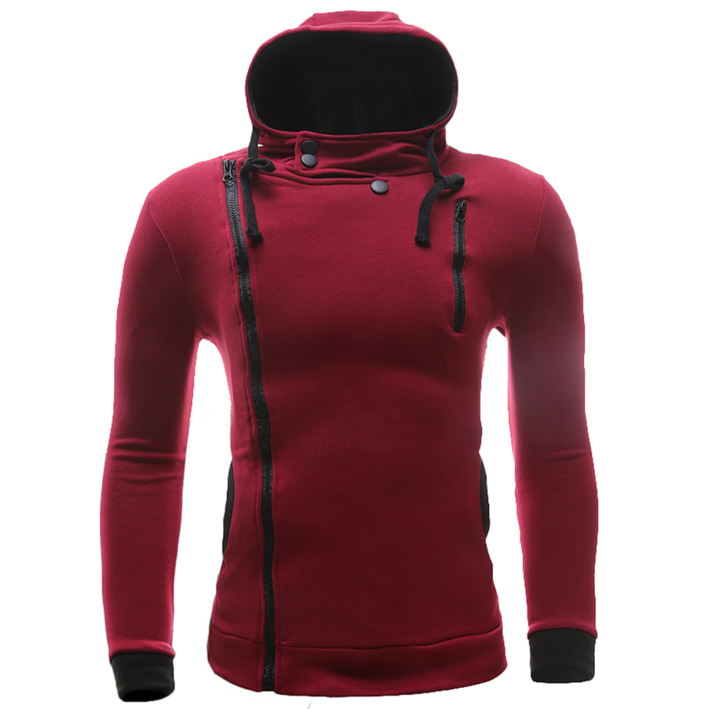 36b2d8ca9477 Get Quotations · New Brand Sweatshirt Men Hoodies Fashion Solid Fleece Hoodie  Mens Sports Men s Tracksuits Slim Fit Men