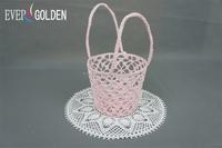 crochet hanging basket chocolate or candy basket gift basket flower vase holder crochet