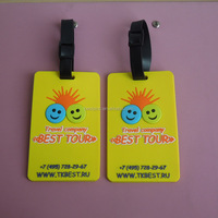 custom soft PVC 3D best tour baggage tags for travel company