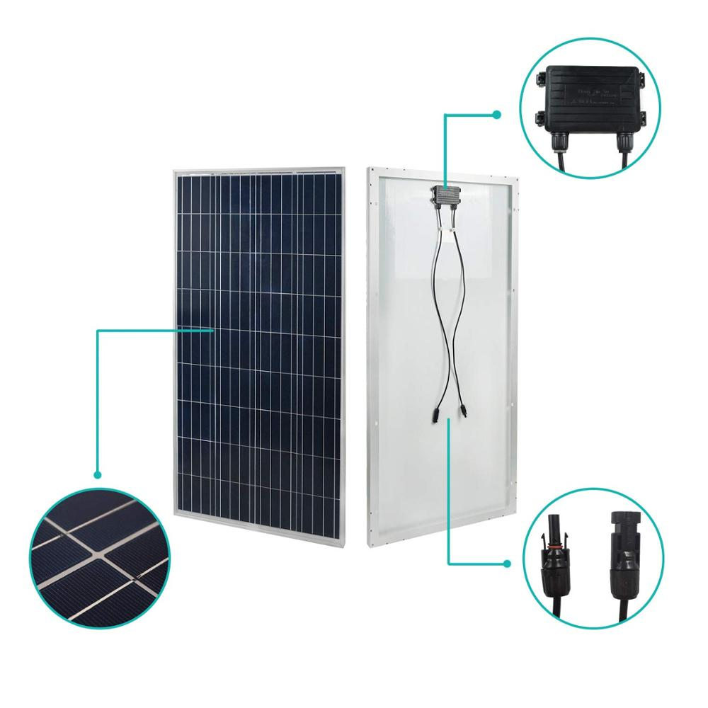 Hot selling Top 10 Alibaba Gold Supplier Best Price <strong>Poly</strong> 150W 155W 160W For solar hot water systems solar vehicle