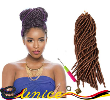 Long Faux Locs Crochet 18inch Braid Hair Dreadlock Extensions