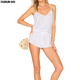 2018 newest fashion white sexy 100% rayon camisole women jumpsuit