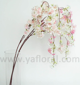 Artificial Silk Hanging Flower Cherry Blossom Branches Cherry