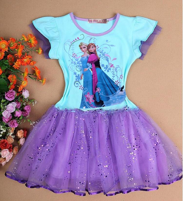 La ropa del bebé fiebre Elsa Anna vestidos princesa Elsa vestido ...