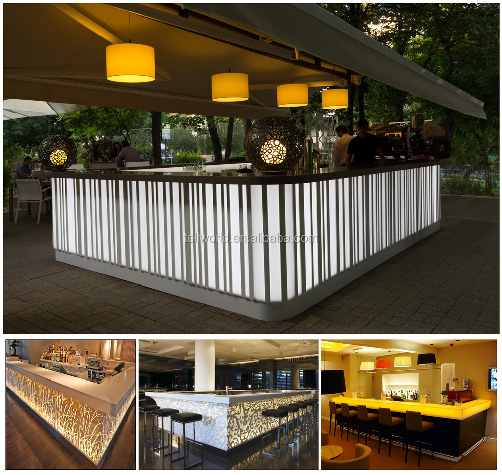 Bar Counter Ideas Design: Night Club Led Bar Counter Drink Bar Counter Design Modern
