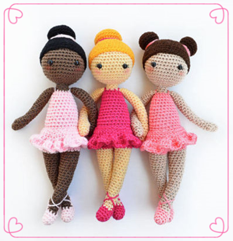 Direct-factory Wholsesale 100% Cotton Baby/Kids Crochet Amigurumi Doll Stuffed Toys