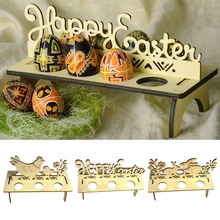 DIY Ei Rack Dekoration Für Home Shop Windows Ornament Kaninchen Küken Ostern Ei Tablett Handgemachten Decor Ostern Holz Handwerk