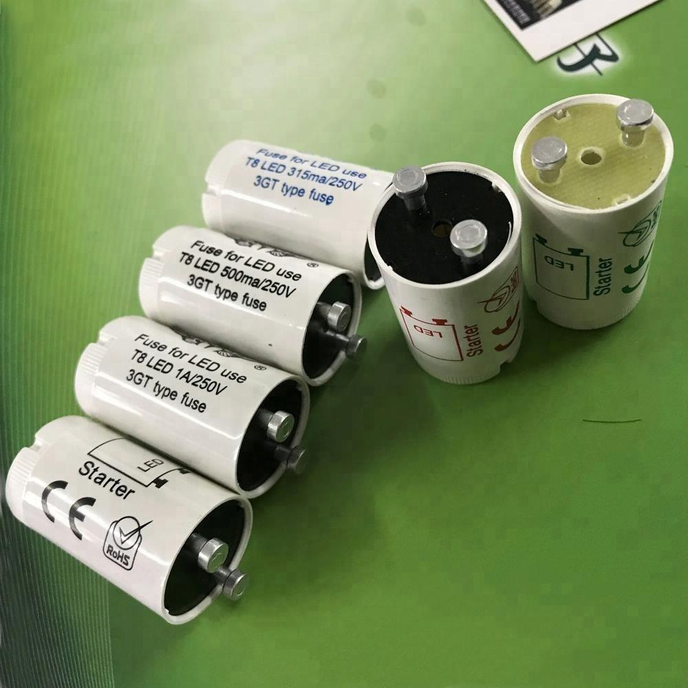 high quality customized printing 0.5a/1a/2a LED tube starter,LED fuse,1A,2A,250V for LED tube light only
