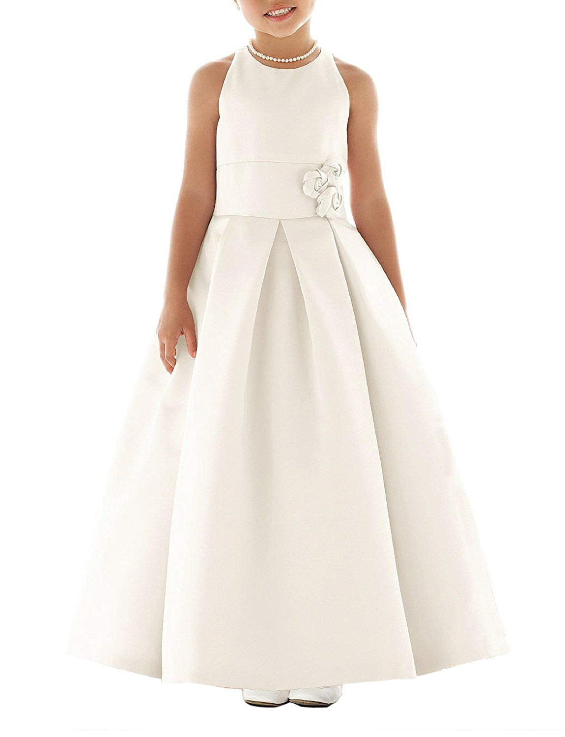 SlenyuBridal Girl's 2018 New Junior Bridesmaid Dress First Communion Wedding Flower Girl Dresses