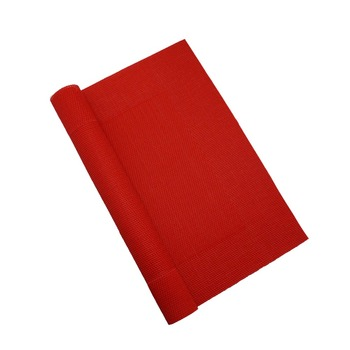 wholesale cheap custom napkin red vinyl fabric christmas placemats red rattan mesh fabric placemat
