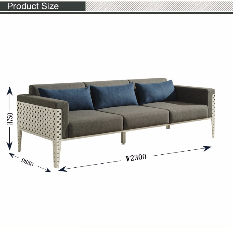 New Style Metal Frame Punching Sofa Frame Outdoor Powder Coated