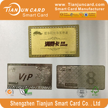 Wholesale selling brand new standard size metal card