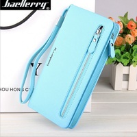 Baellerry New Women's Fashion Multi-functional Purse Ladies Long Clutch Wallets with handle strap