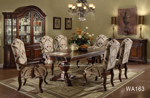 Top End Classic Dubai Wooden Dining Table And Chairs