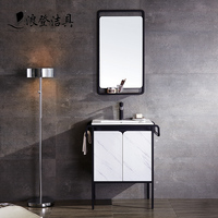 Modern Ceramic Hand Wash Basin Sink Hotel Bathroom Vanity