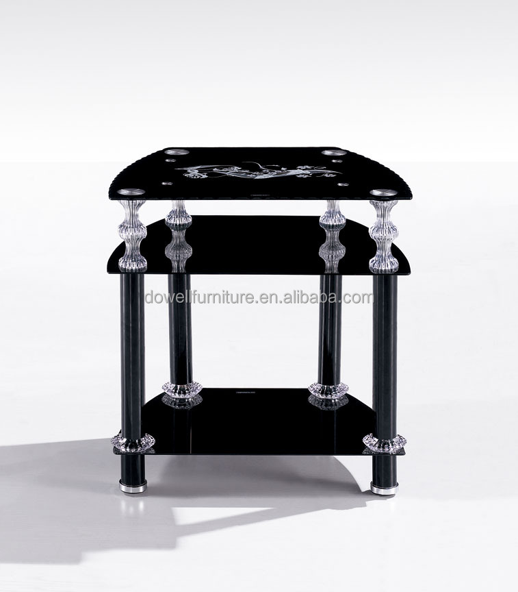 factory direct saled simple modern tempered glass coffee table tea table bed stand telephone stand night table made in China