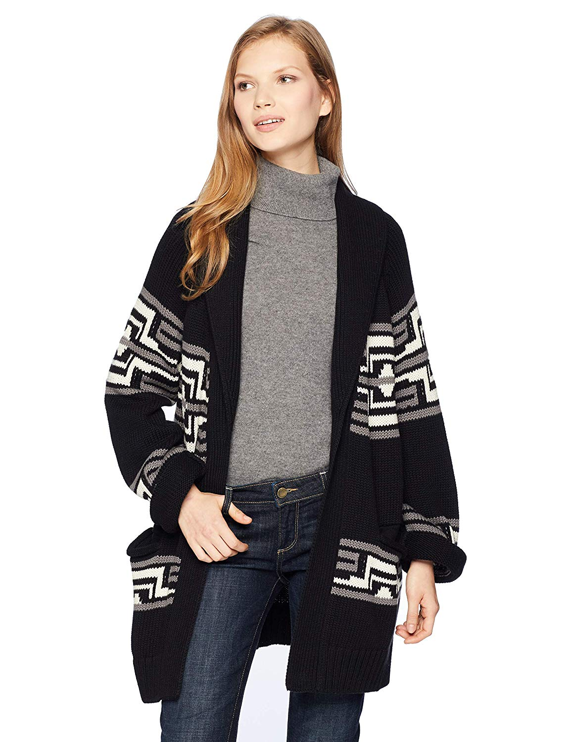 8f1ed831fa5854 Get Quotations · Pendleton Women's Las Cruces Cotton Cardigan Sweater,
