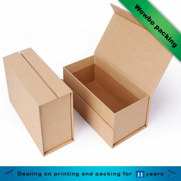 Wowbo Rigid Foldable Craft Paper Box Template Book Shape Kraft Manufacture