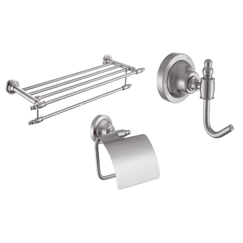 Brushed Nickel Bath Hardware Kit