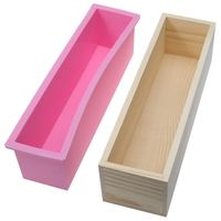 Wholesale Rectangle Silicone Soap Mold with Wooden Box