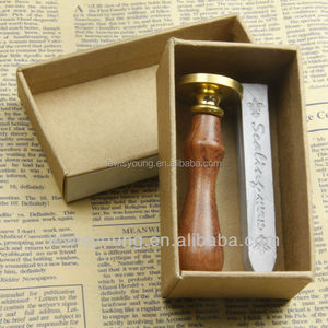 Special gift sealing wax and wooden cuprum stamp