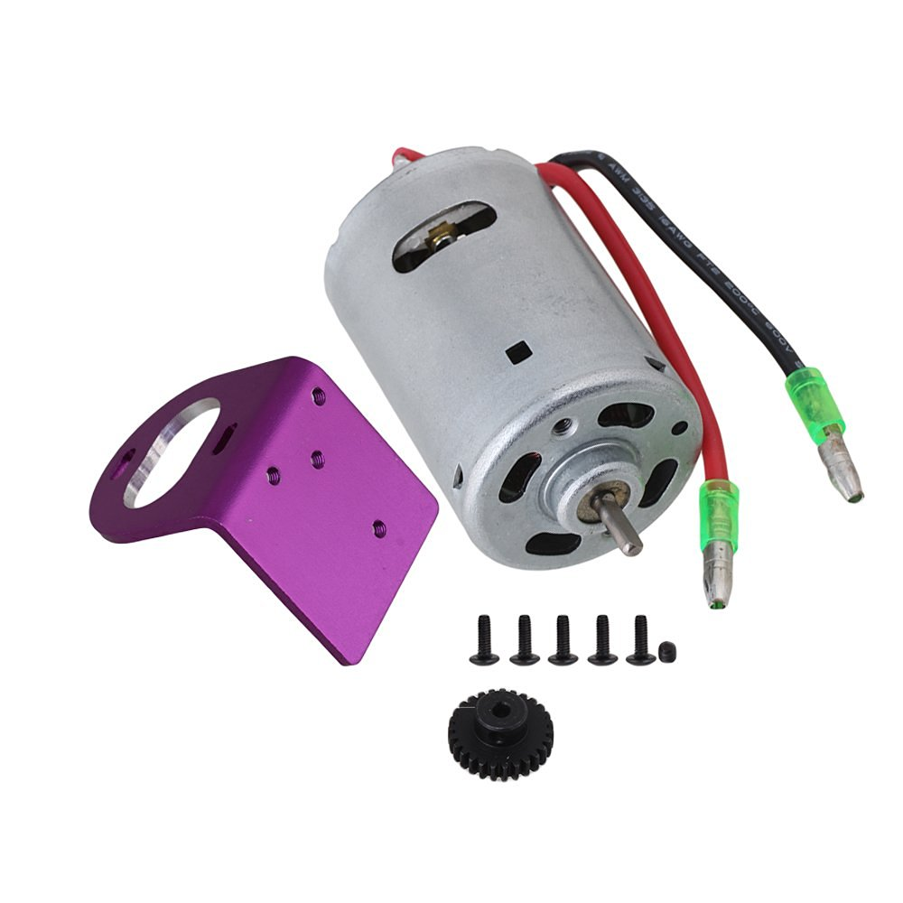 Mxfans Purple Mount Seat 27T Motor Gear & Silver 540 Brushed A580048 High Speed Electric Engine Motor for WL RC1:18 Car