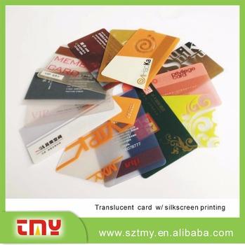 Uv silkscreen printing pvc transparent business card buy plastic uv silkscreen printing pvc transparent business card reheart Choice Image