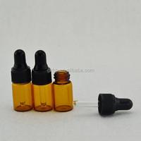 amber glass 3ml cute dropper bottle, cosmetic perfume and oil 3ml cute dropper bottle