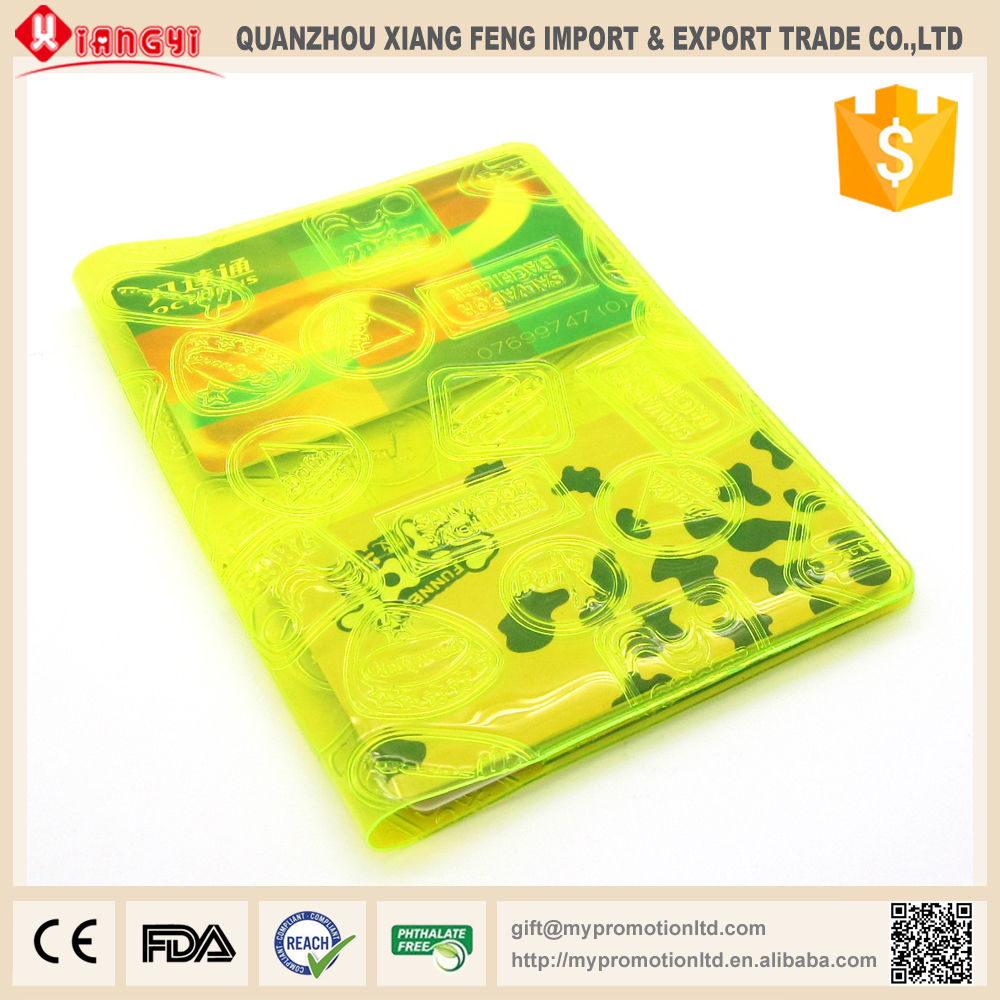 Top selling products in alibaba yellow student pvc card holder wallet