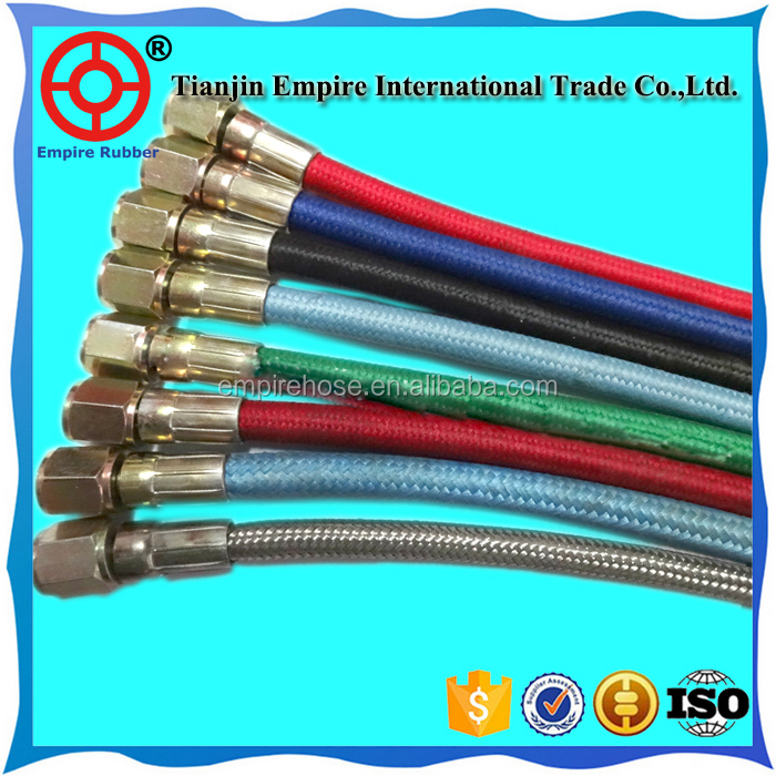 Durable long life high temperature resistant iron steam hose with ptfe steam hose pipe