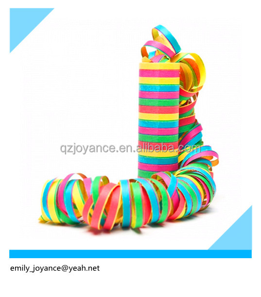 Wholesale multicoloured paper serpentines streamer for Party decoration/wedding