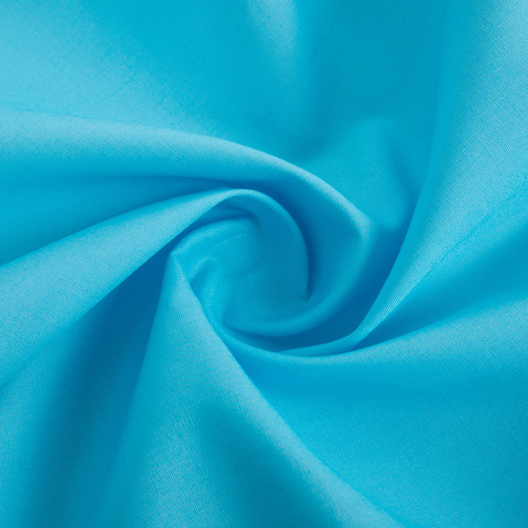 cotton blue dyed woven percale cloth twill shirts fabric