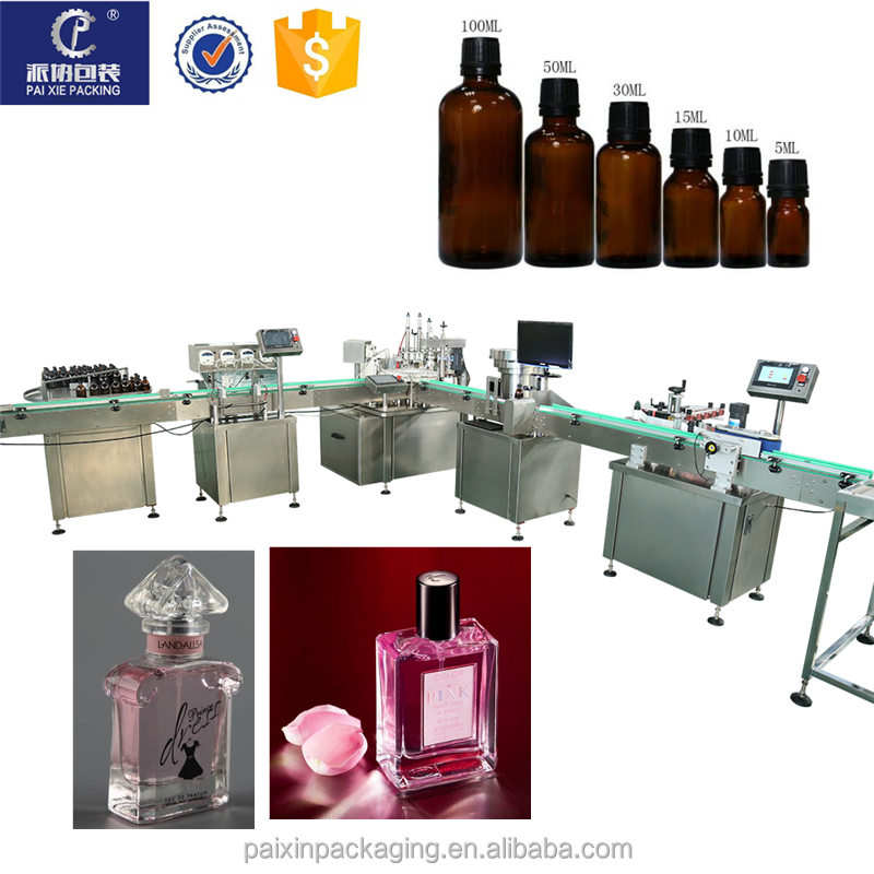 Automatic filling sealing machine perfume e liquid essential oil eye drop vials small bottle vape filling machine