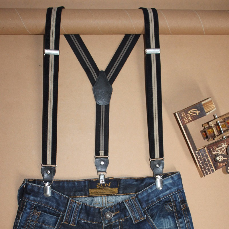 30YP3J03-TW Custom braces Funny suspenders for men Striped elastic