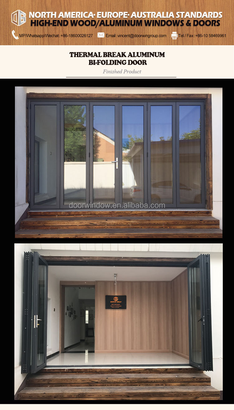 Glass folding door bi-folding doors frameless