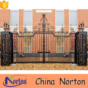 casting iron material new design sliding gate with post NTIRG-364X