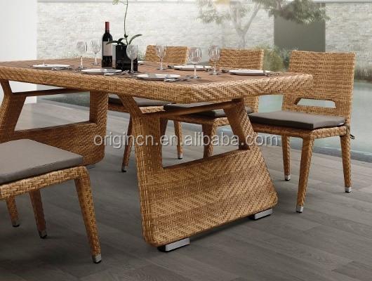 6 sitzer land stil ratan innen oder terrasse abendessen möbel, Esstisch ideennn