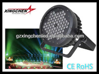guangzhou xingchen wholesale stage light dj disco bar club lighting 72pcs*1/3w rgbw Aluminium LED Par Light