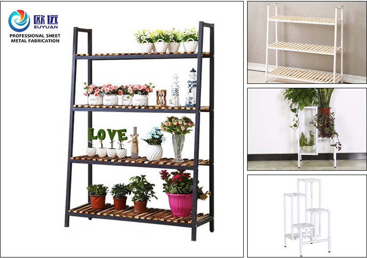 Home decoration 4-Tier Steel Metal Flower Display Stand