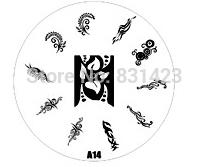 2015 new A Series A14 Nail Art Polish DIY Stamping Plates Image Templates Nail Stamp Stencil