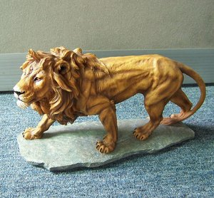 cute resin animal figurine toys,lion figurine
