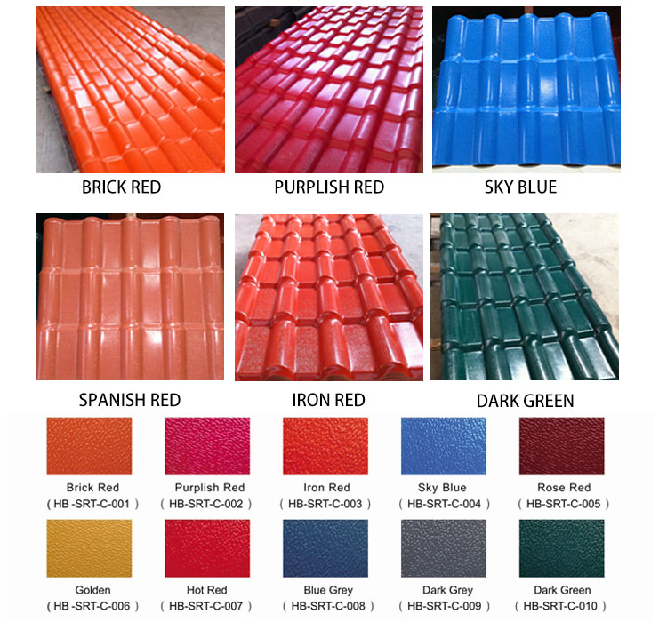 Foshan 10 Years No Color Fading Color Roof Philippines