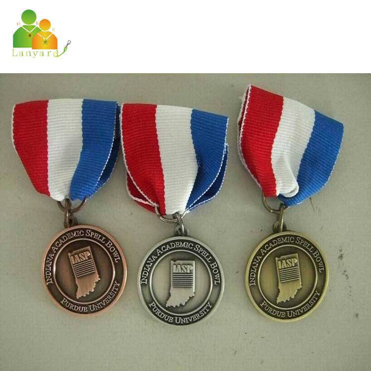 China manufacturer wholesale fabric metal medal ribbon supplier on alibaba