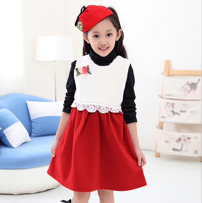 get quotations teenager girls clothes 2015 new girls winter dress elegant woolen children christmas dresses kids clothes girls