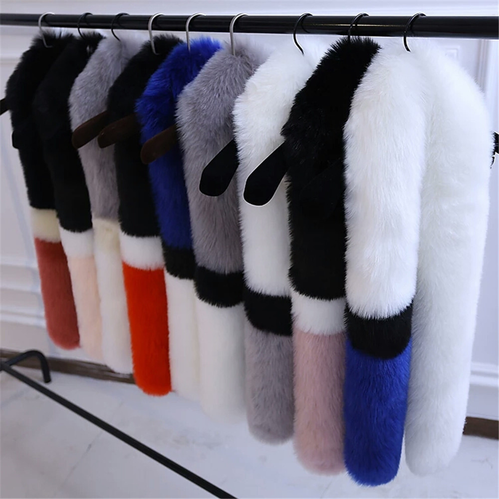 2017 new product wholesale Fox fur trim for hood natural detachable mink fur collar mink fur scarf for coat from China